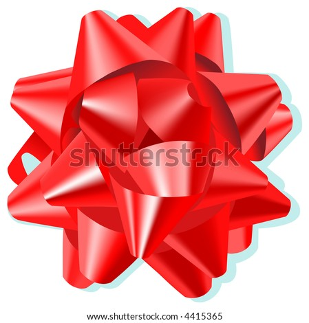 Bow Red - stock vector