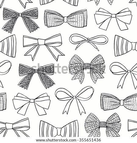 Bow seamless pattern. Surface decoration.Vector illustration. Cloth design, wallpaper, wrapping. - stock vector
