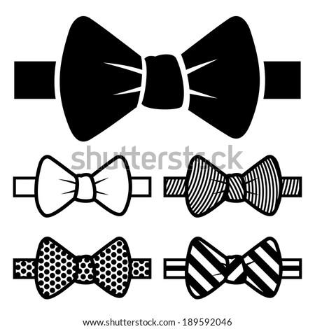 Bow Tie Icons Set - stock vector