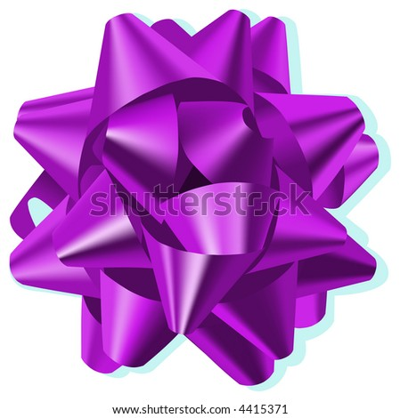 Bow Violet - stock vector