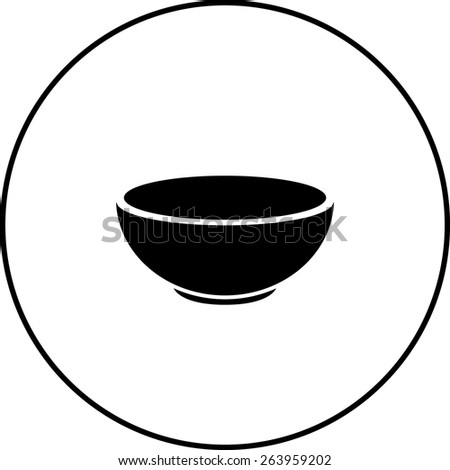 bowl symbol - stock vector