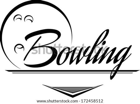 Bowling Ball Banner - stock vector