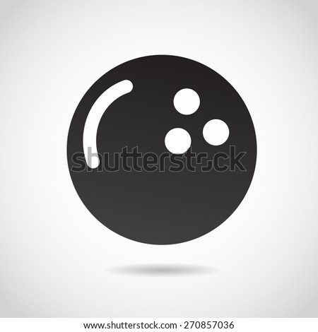 Bowling ball icon isolated on white background. Vector art. - stock vector