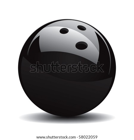 Bowling Ball Set 1 Vector Drawing - stock vector