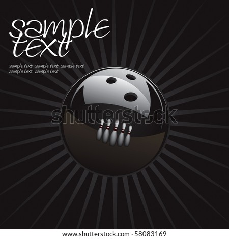 Bowling Ball Set 2 Vector Drawing - stock vector