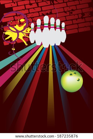 Bowling club - stock vector