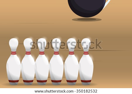 Bowling  concept with sport icons design, vector illustration 10 eps graphic.