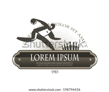 Bowling icon - stock vector