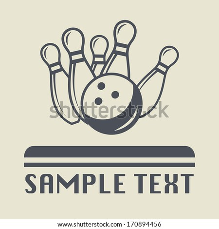 Bowling icon or sign, vector illustration - stock vector