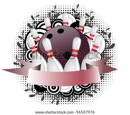 Bowling logo - stock vector