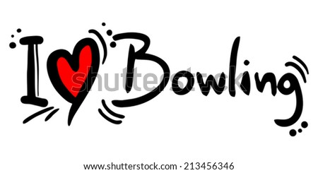 Bowling love - stock vector