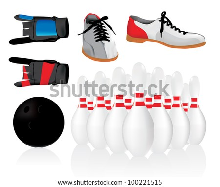 Bowling objects set