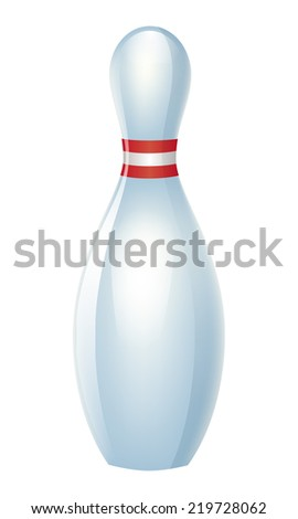 Bowling pin isolated. - stock vector