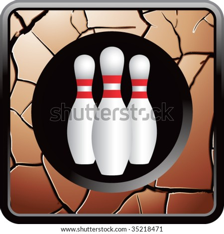 bowling pins on interesting web button
