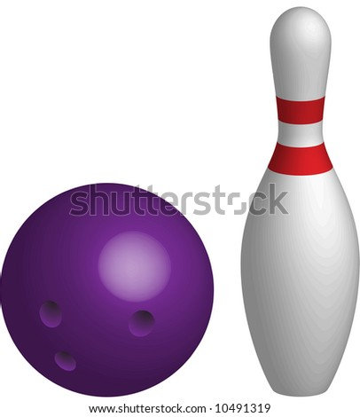 bowling skittle - stock vector