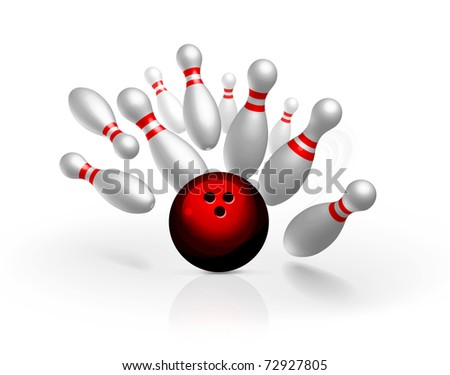 Bowling strike vector illustration - stock vector