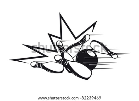 Bowling symbol, such a logo. Jpeg version also available in gallery - stock vector