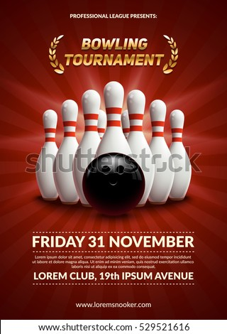 Bowling flyer template bowling invitation party flyer 7 bowling scorpiosgraphx bowling night flyer template bowling stock images royalty free images vectors shutterstock pronofoot35fo Images