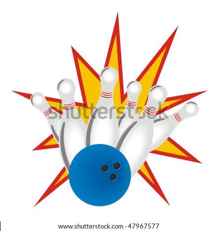 bowling vector - stock vector