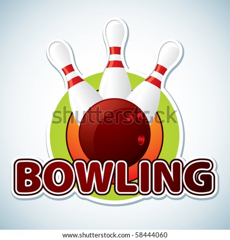 Bowling. Vector illustration - stock vector