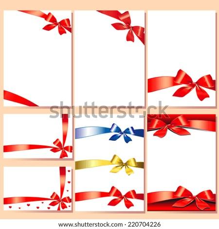 bows design - stock vector