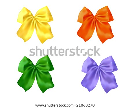 bows different colors (with mesh)