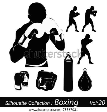 Box and boxing - stock vector