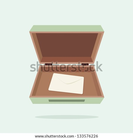 Box and letter - stock vector