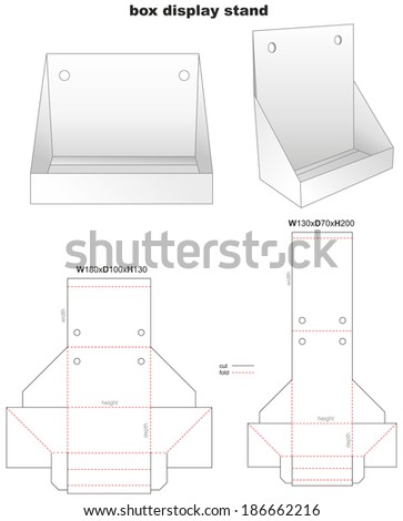 box display stand and stamp - stock vector