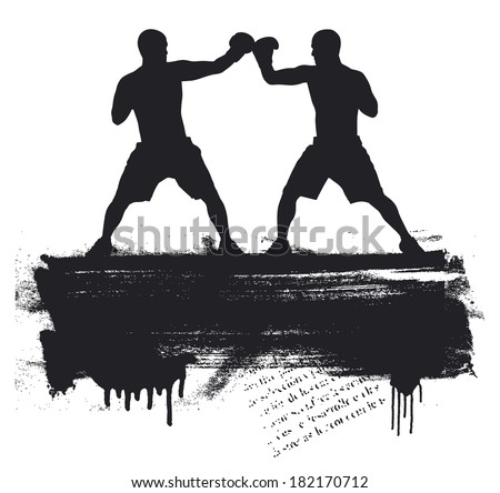 box fight - stock vector