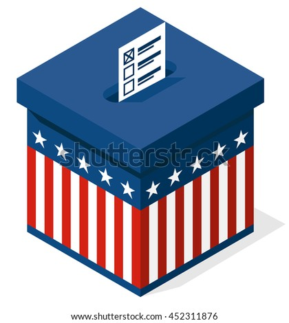 box for a vote. presidential elections in the United States. vector - stock vector