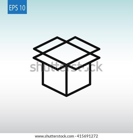 Box icon, Box icon eps 10, Box icon vector, Box icon illustration, Box icon jpg, Box icon picture,Box icon flat, Box icon design, Box icon web, Box icon art, Box icon JPG, Box icon image - stock vector