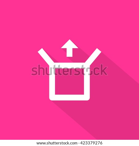 Box isolated minimal single flat linear icon for application and info-graphic. Delivery line vector icon for websites and mobile minimalistic flat design. - stock vector