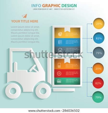 Box,Logistic concept info graphic design, Business concept design. Clean vector. - stock vector