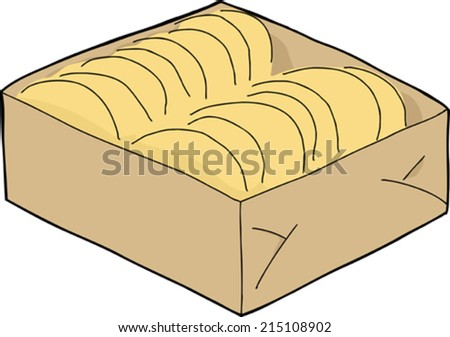 Box of taco shells on isolated background