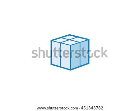 Box parcel delivery icon. Vector illustration of parcel box - stock vector