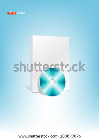 box set with compact disc or cd , vector eps 10 - stock vector