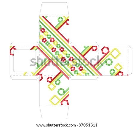 Box template - stock vector