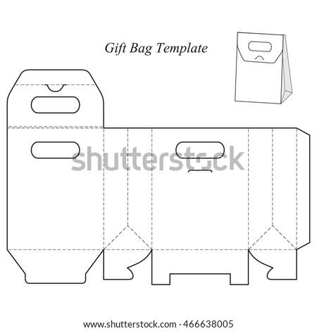 Box Template Lid Blank Vector Illustration Stock Vector