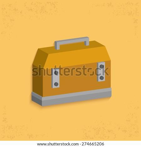 Box tools design,clean vector - stock vector