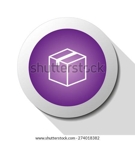 Box, web icon. Vector design - stock vector