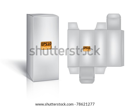 box with a layout for the new design - stock vector