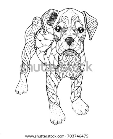 boxer dog coloring pages - boxer dog coloring pages zentangle coloring pages