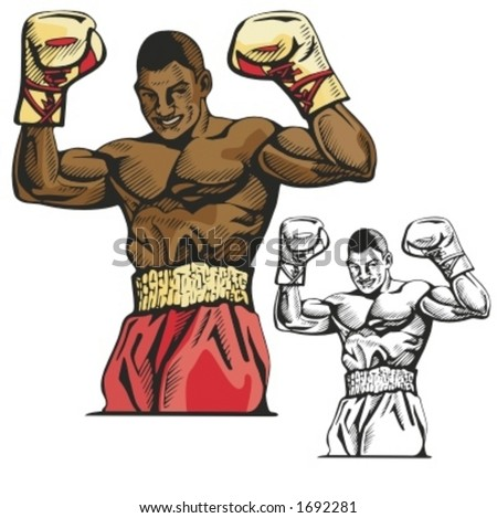 Boxer vector illustration. - stock vector