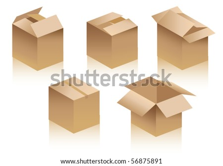 Boxes - stock vector