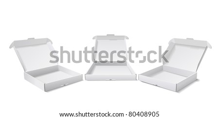 Boxes for packing of goods are shown in the picture. - stock vector