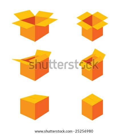 boxes icons set more in my portfolio - stock vector