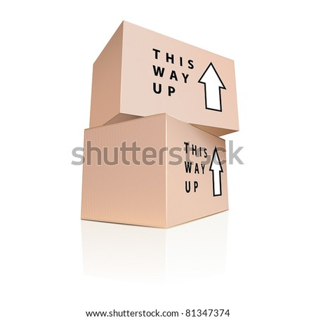 Boxes stack - stock vector