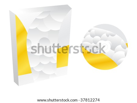 boxes with cd vector - stock vector