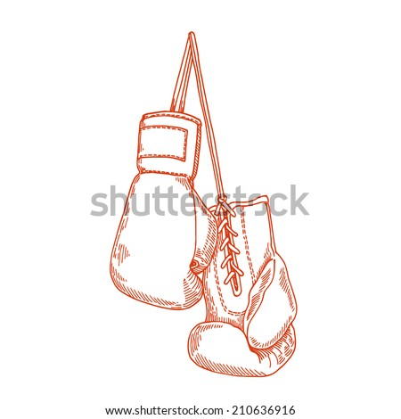 boxing business - stock vector